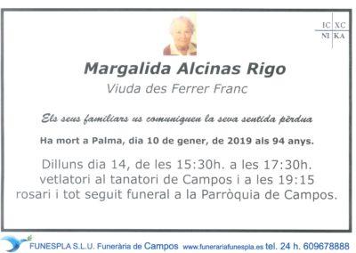 Margalida Alcinas Rigo 10/01/2019