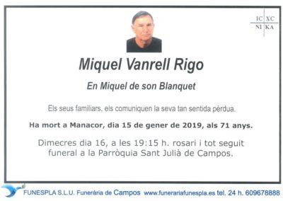 Miquel Vanrell Rigo  15/01/2019