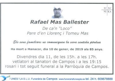 Rafael Mas Ballester  10/01/2019