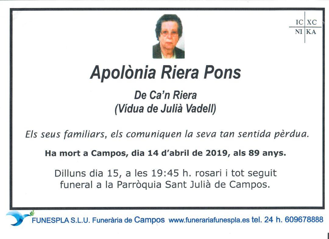 Apolònia Riera Pons   14/04/2019