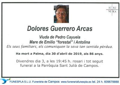 Dolores Guerrero Arcas   30/04/2019