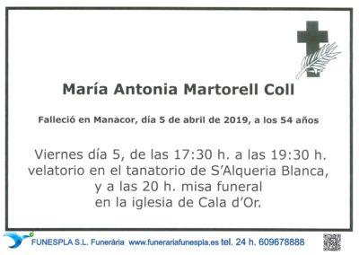 María Antonia Martorell Coll   05/04/2019