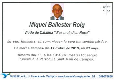 Miquel Ballester Roig  17/04/2019