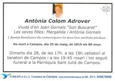 Antònia Colom Adrover  25-05-2019