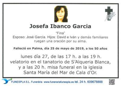 Josefina Ibanco Garcia  25-05-2019