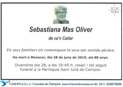 Sebastiana Mas Oliver   28/06/2019