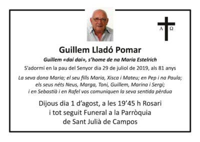 Guillem Lladó Pomar 29/07/2019