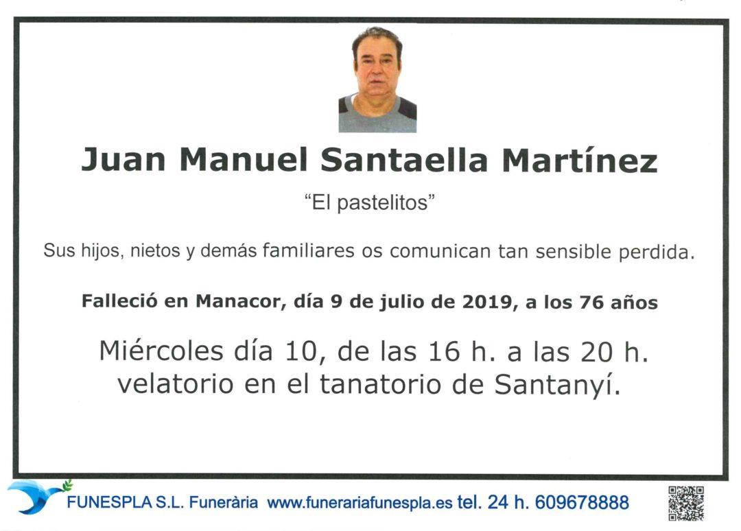 Juan Manuel Santaella Martínez  09/07/2019