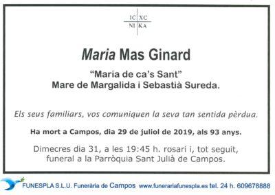 Maria Mas Ginard  29/07/2019