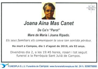 Joana Aina Mas Canet 01/08/2019