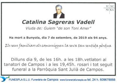 Catalina Sagreras Vadell   07/09/2019