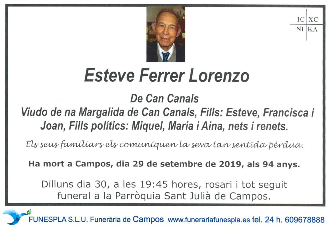 Esteve Ferrer Lorenzo 29/09/2019