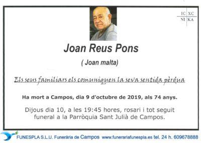Joan Reus Pons  09/10/2019