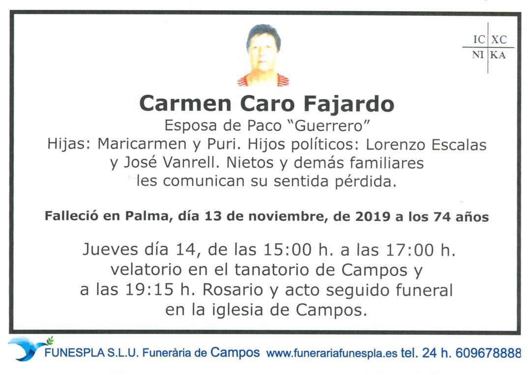 Carmen Caro Fajardo  13/11/2019