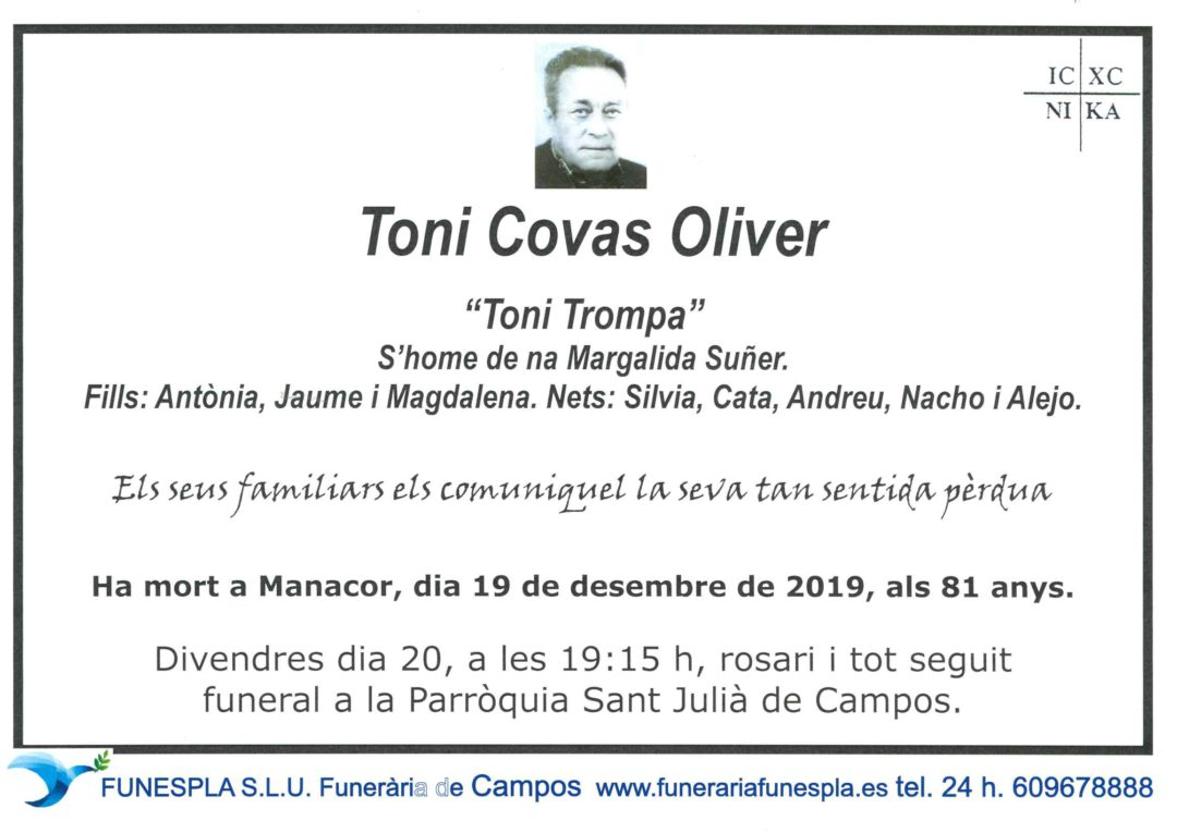 Toni Covas Oliver  19-12-2019
