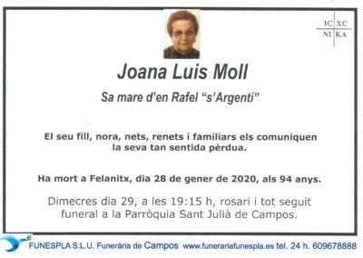 Juana Luis Moll 20-01-2020