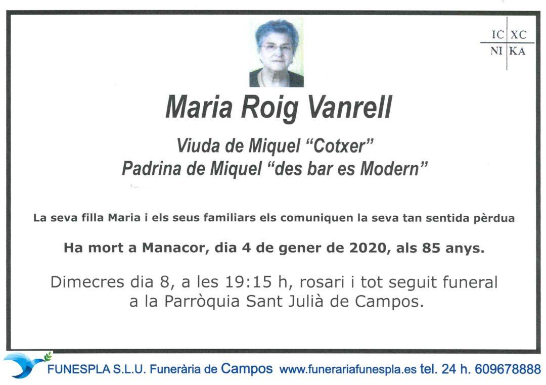 Maria Roig Vanrell  04-01-2020