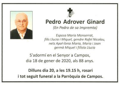 Pedro Adrover Ginard  18-01-2020