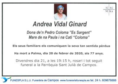 Andrea Vidal Ginard 20-02-2020