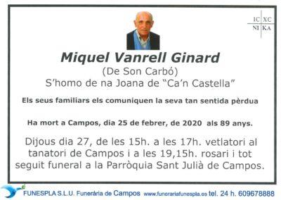Miquel Vanrell Ginard   25-02-2020