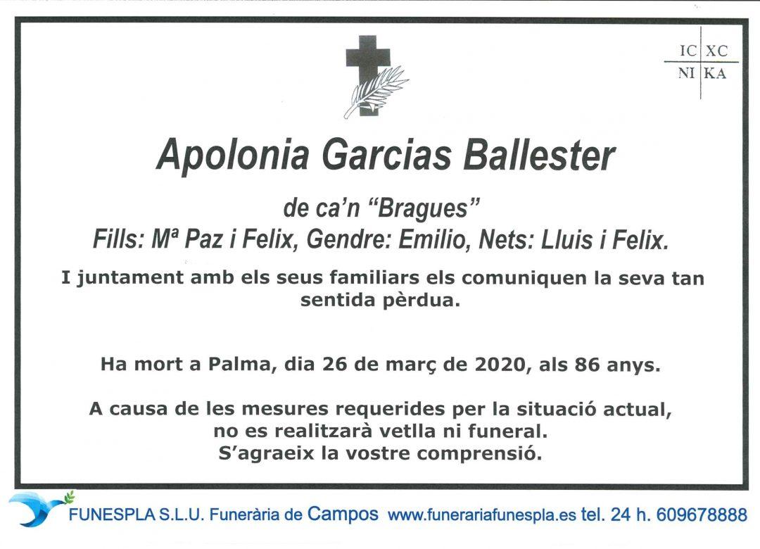 Apolonia Garcias Ballester 26-03-2020