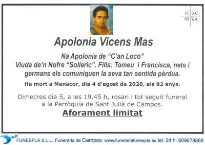 Apolonia Vicens Mas   04-08-2020