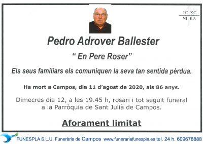Pedro Adrover Ballester  11-08-2020