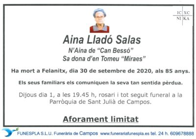 Aina Lladó Salas   30-09-2020