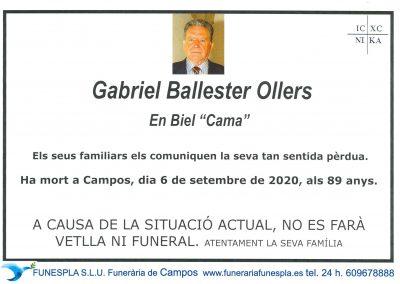 Gabriel Ballester Ollers  06-09-2020