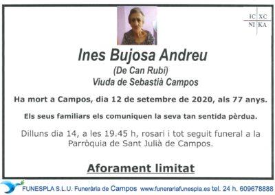 Ines Bujosa Andreu  12-09-2020