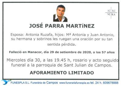 José Parra Martínez  29-09-2020