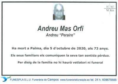 Andreu Mas Orfi   05-10-2020