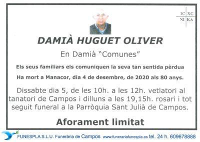 Damià Huguet Oliver  04-12-2020