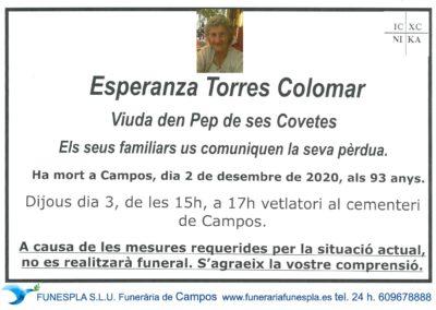 Esperanza Torres Colomar 02-12-2020
