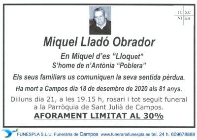 Miquel Lladó Obrador   18-12-2020