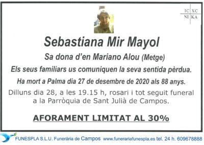 Sebastiana Mir Mayol  27-12-2020
