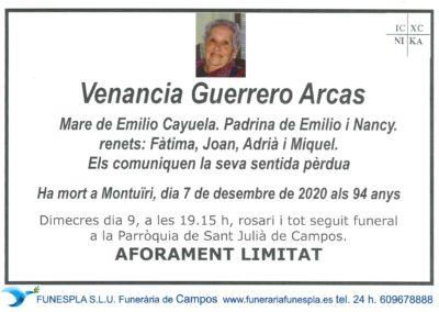 Venancia Guerrero Arcas  07-12-2020