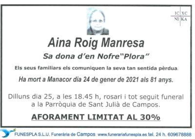 Aina Roig Manresa  24-01-2021