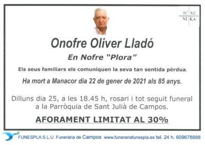 Onofre Oliver Lladó  22-01-2021