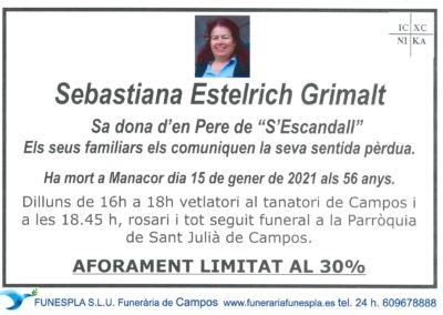 Sebastiana Estelrich Grimalt  15-01-2021