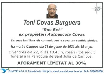 Toni Covas Burguera  21-01-2021