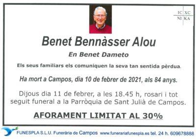 Benet Bennàsser alou 10-02-2021