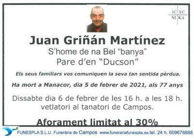 Juan Griñán Mantínez  05-02-2021