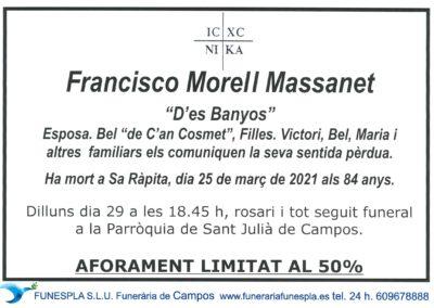 Francisco Morell Massanet 25-03-2021