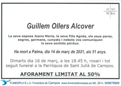 Guillem Ollers Alcover  14-03-2021