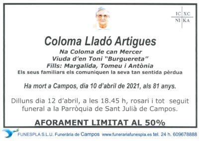 Coloma Lladó Artigues  10-04-2021