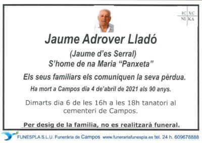Jaume Adrover Lladó  04-04-2021