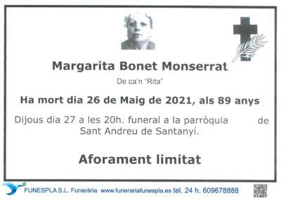 Margarita Bonet Monserrat   26-05-2021