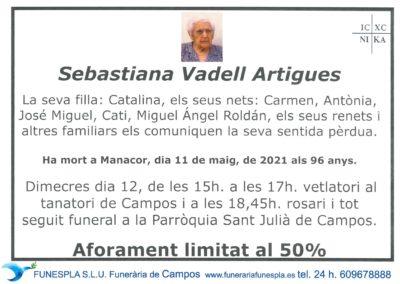 Sebastiana Vadell Artigues  11-05-2021