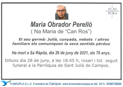 Maria Obrador Perrelló  26-06-2021